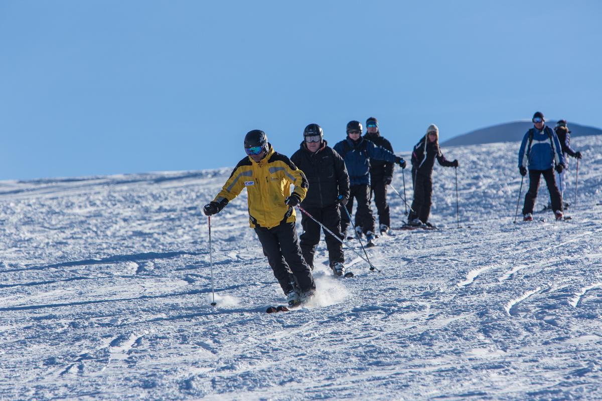 Clases de esquí para adultos para avanzados