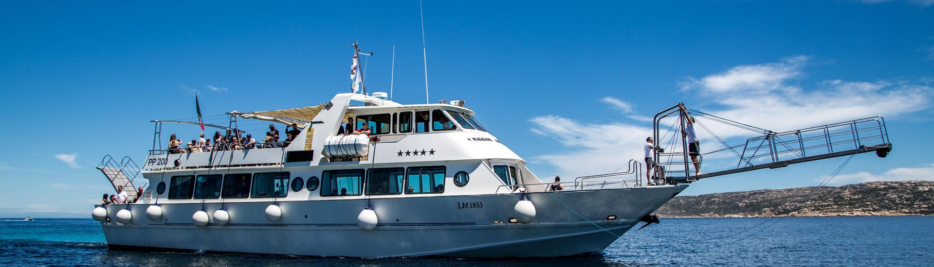 The boat from Maggior Leggero Tour is about to depart for the Boat Trip to La Maddalena Archipelago.