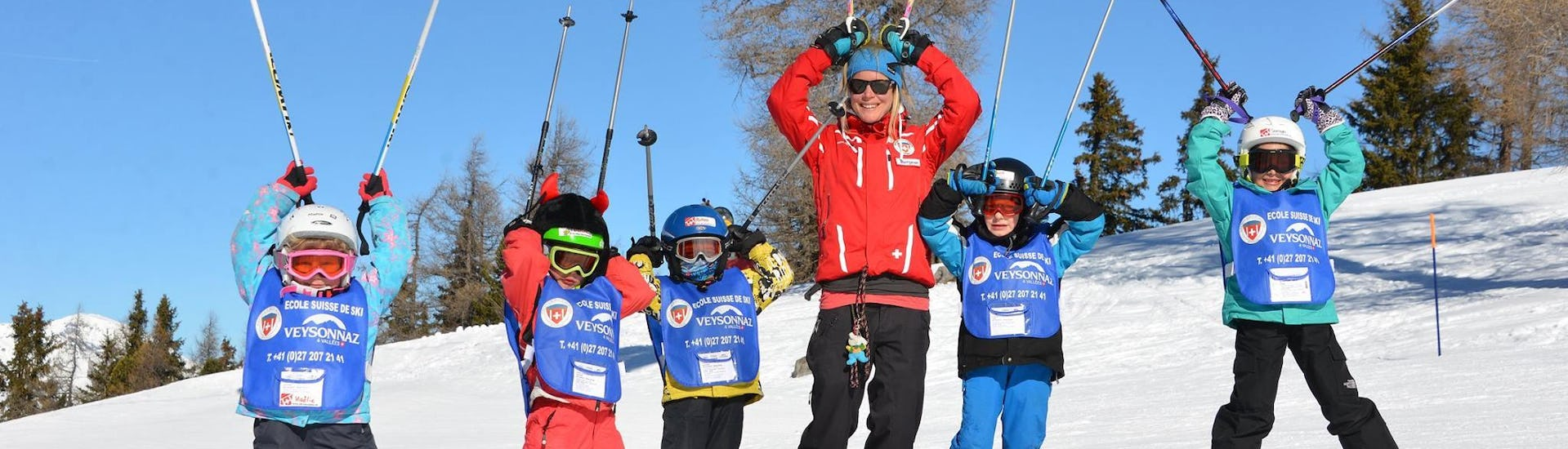 Ski Lessons for Kids (6-12 years) - Full Day - Advanced