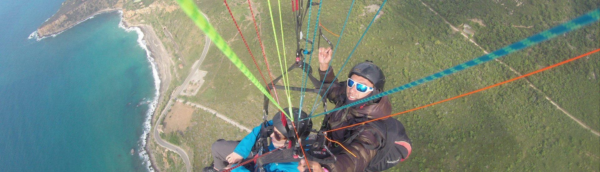 Tandem Paragliding from Taormina to Letojanni Beach