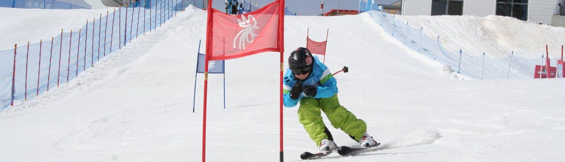 Curso de esquí para niños para avanzados