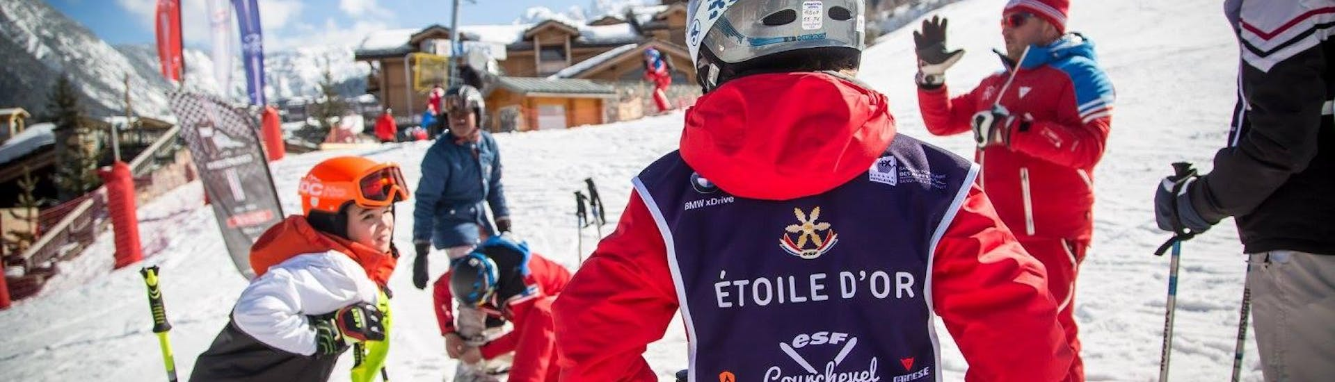 """Kids Ski Lessons """"Gold Star"""" (6-12 y.) for Advanced Skiers with ESF Courchevel Village - Hero image"""