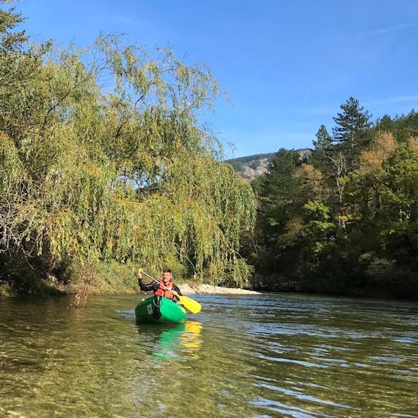 Eenvoudige Kanoën in Sainte-Énimie - Tarn River