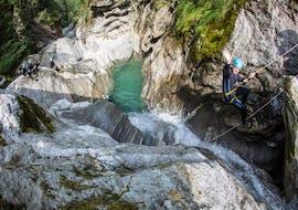 Canyoning in der Zemmschlucht - Blue Lagoon im Juli & August mit Mountain Sports Mayrhofen