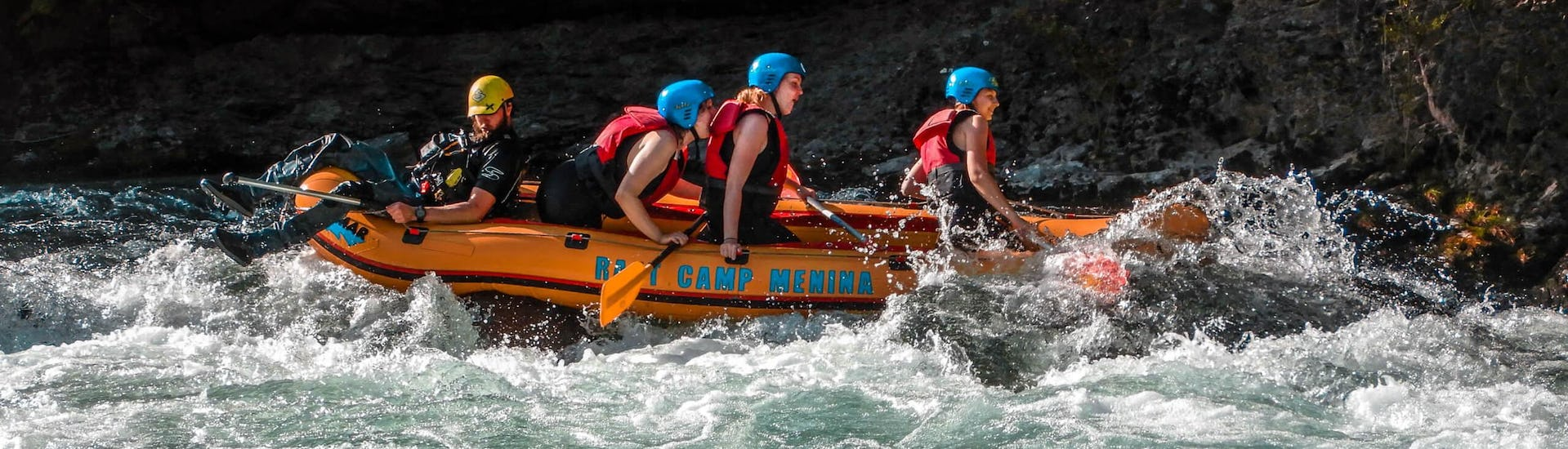 "In full action during Rafting ""Classic"" - Savinja organized by Funpark Menina"