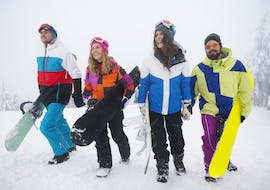 Fun on the snow during Snowboard Lessons for Adults