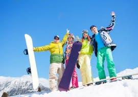 Snowboardlessen voor alle niveaus met K+K Ski School Krkonoše