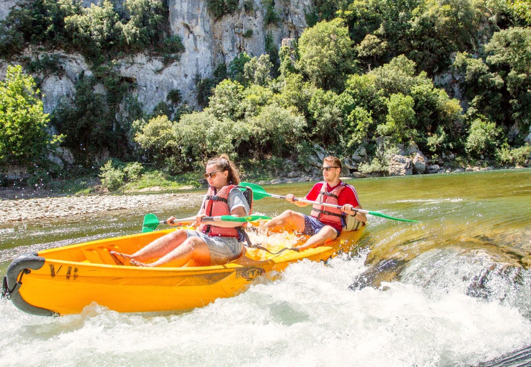 Gevorderde Kanoën in Vallon-Pont-d'Arc - Gorges de l'Ardèche