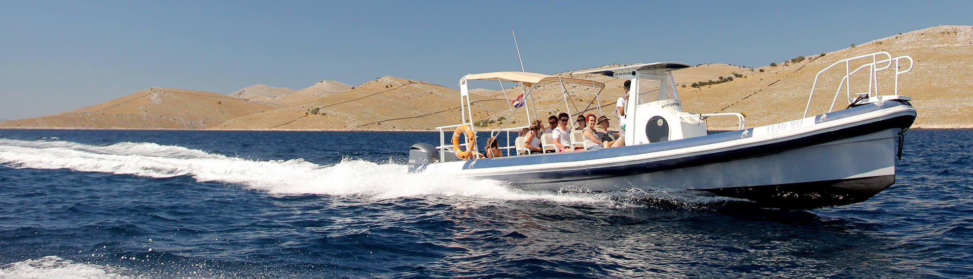 Sortie en bateau privée de Šibenik à Kornati National Park avec Baignade & Observation de la faune