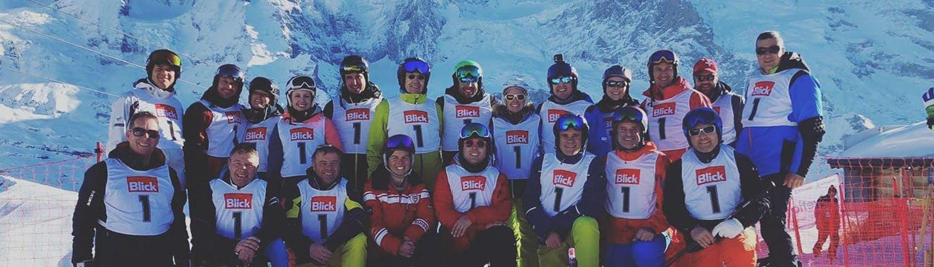 Skilessen voor volwassenen - vergevorderd met Schweizer Ski- und Snowboardschule Wengen - Hero image