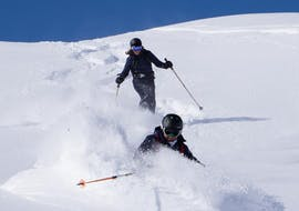 Having fun during Freeriding Private for Adults – All Levels