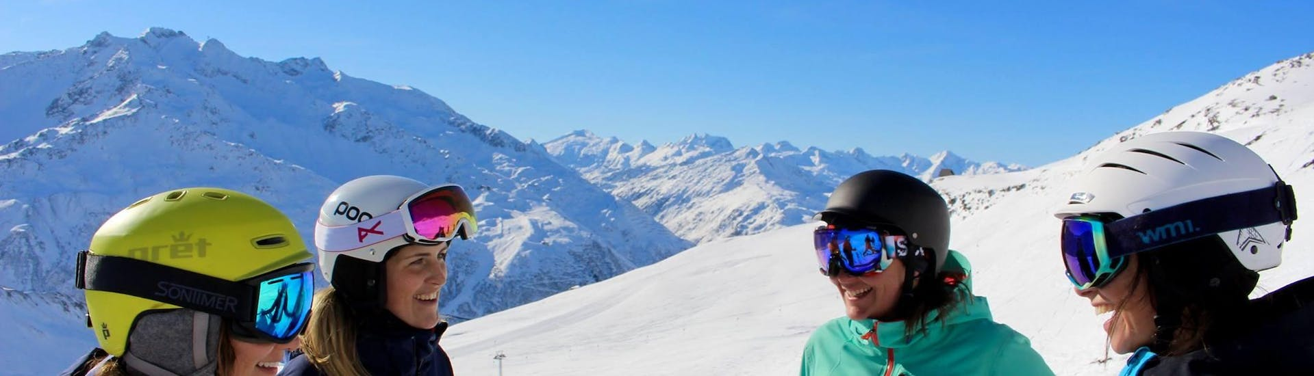 Having fun during Ski Instructor Private for Adults - All Levels