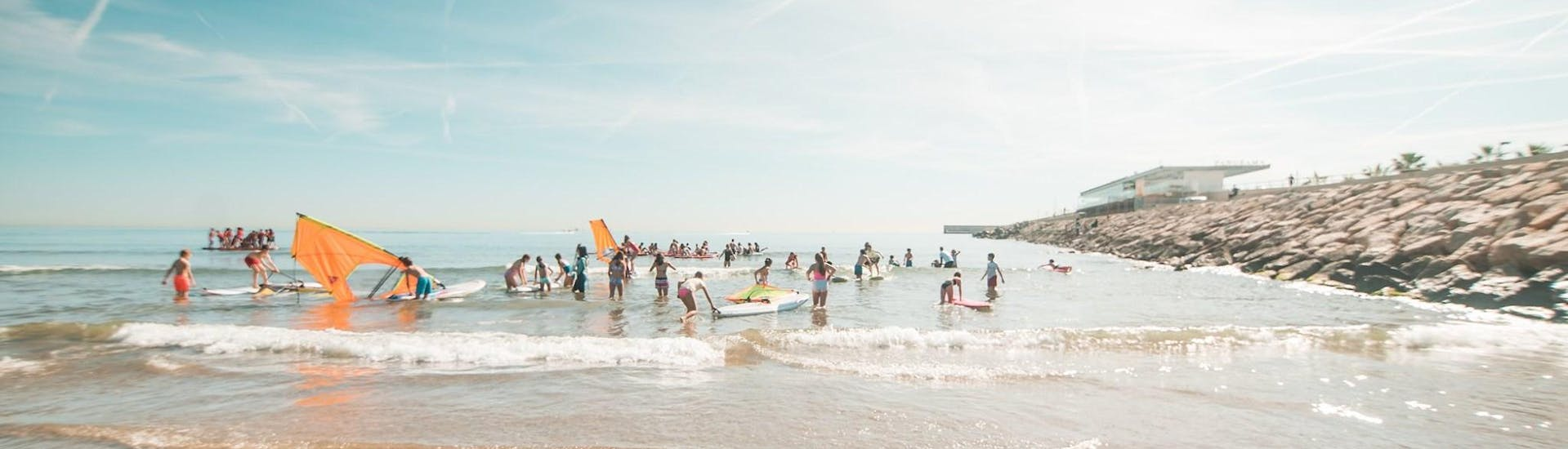 The beach of anywhere Watersports in Valencia.