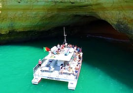 """During the Boat Tour """"Barbeque Benagil"""" from Vilamoura organized by Cruzeiros da Oura Vilamoura, passengers get a chance to visit the famous Benagil Caves."""
