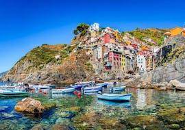 La vue grandiose que vous pourrez admirer lors de la balade privée en bateau aux Cinque Terre et Porto Venere avec Costa di Faraggiana Levanto.