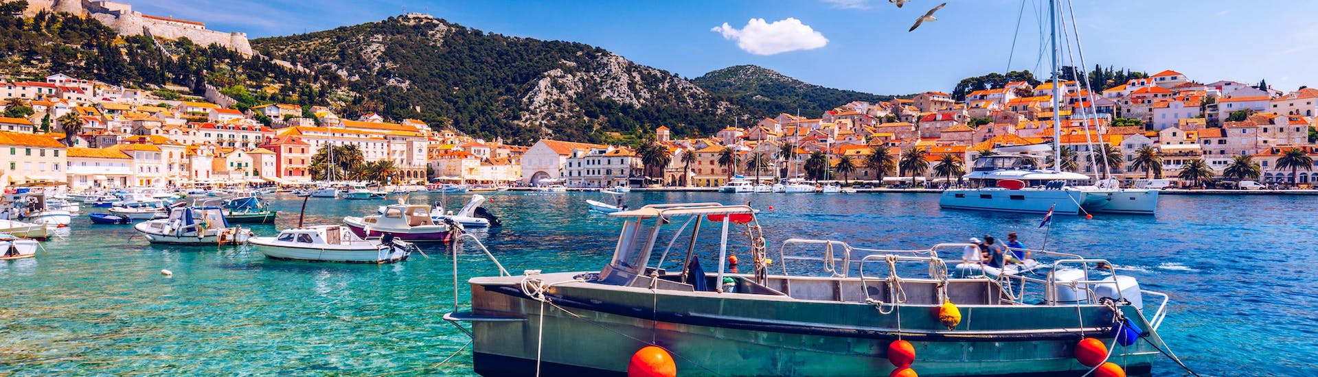 Boat trips from Hvar City are popular amongst tourists.