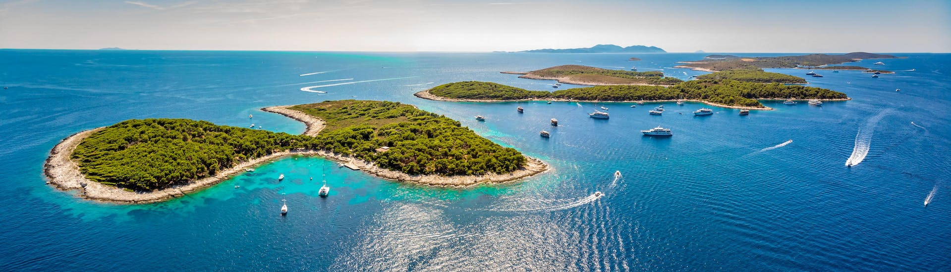 Boat trips from Hvar Island are very popular.
