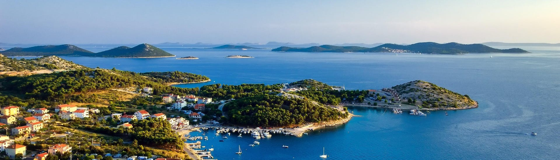 An image of the famous archipelago in the Kornati National Park that visitors can witness on a boat trip in the Telašćica Nature Park..