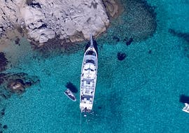 One of our spacious boats during the boat trip from Palau to la Maddalena Archipelago - Low Season with Lady Luna 2 Palau.