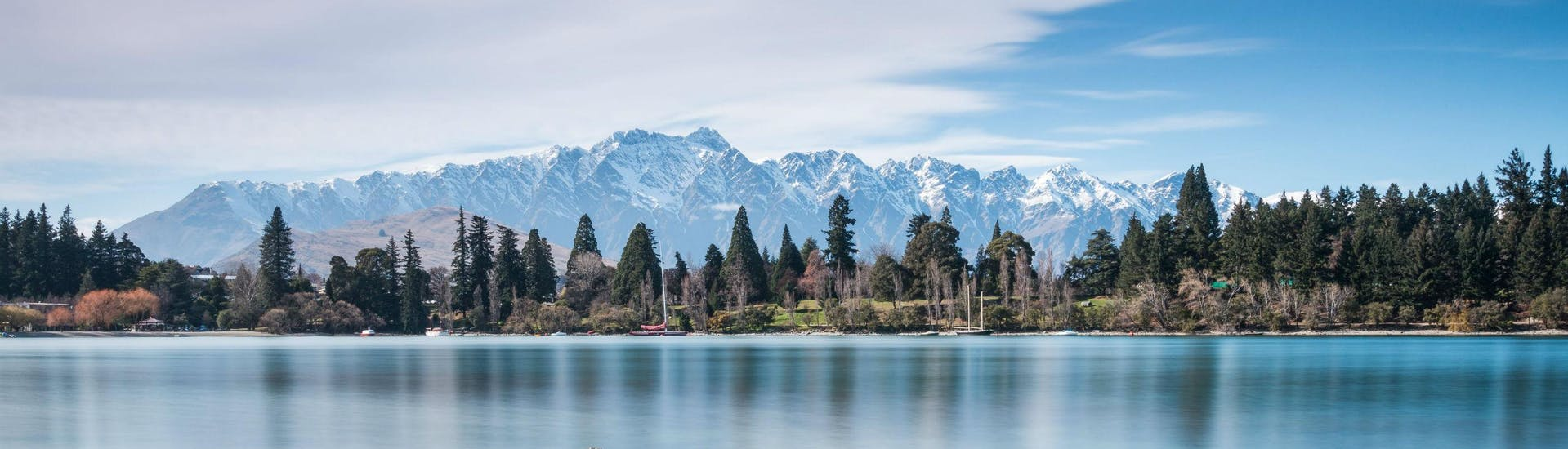 A boat trip on Lake Wakatipu allows visitors to take in the magnificent scenery around Queenstown.
