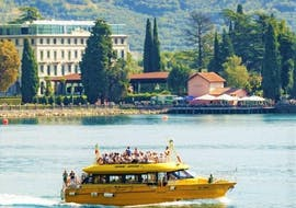 A boat trip in Lake Garda goes to Limone and Malcesine with Speedy Boat Riva del Garda.