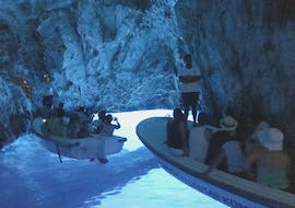 Blue cave in Croatia during a boat tour with Amazing Hvar.