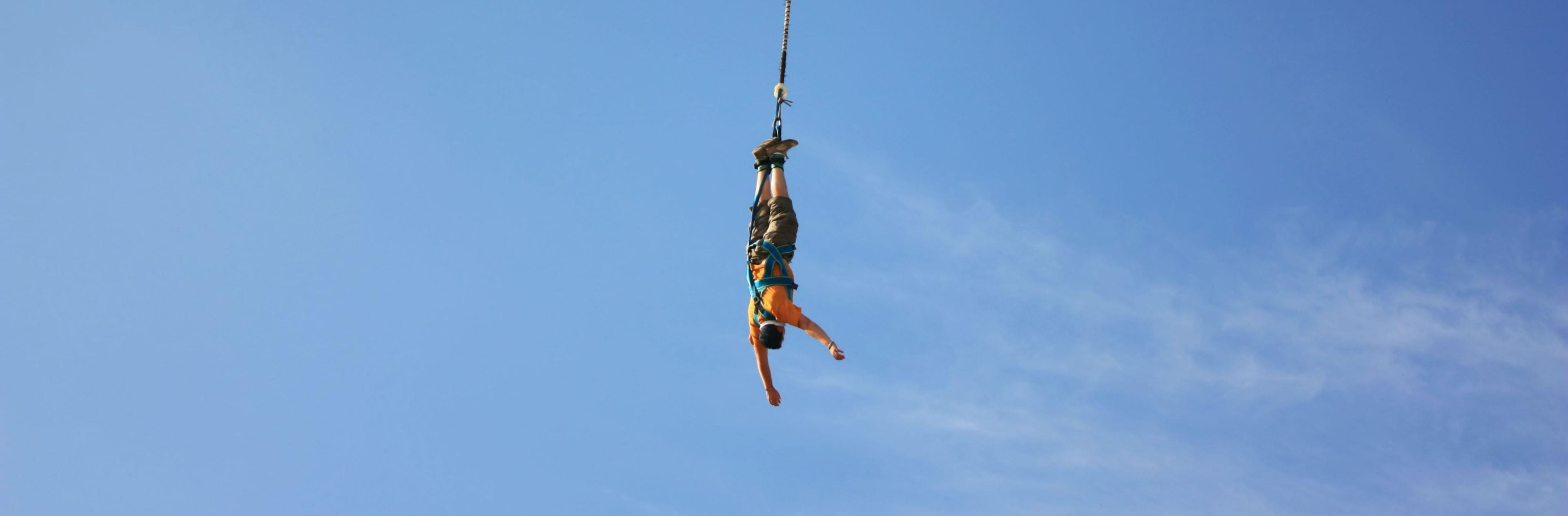 Bungee Jumping.Bungee Jumping From Viaduc Banne 40m By Elastic Crocodil Bungee