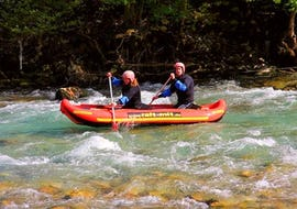 Canadier Ultra Raft on the Berchtesgadener Ache - Morning
