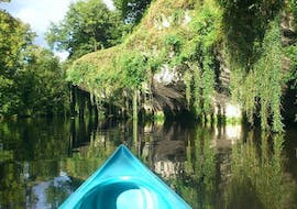 Landscape of the Dronne river and its luxuriant vegetation that can be admired during a canoe trip with Allo Canoës Dordogne during the Moulin de Grenier - 4 km canoeing tour.