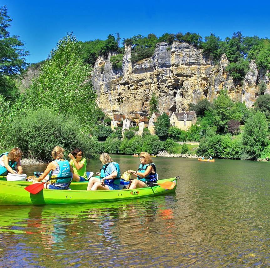 16 km kanoverhuur op de Dordogne - Wilde tocht
