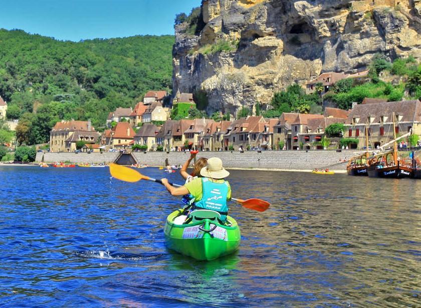 16 km kanoverhuur op de Dordogne - Ruïnetocht