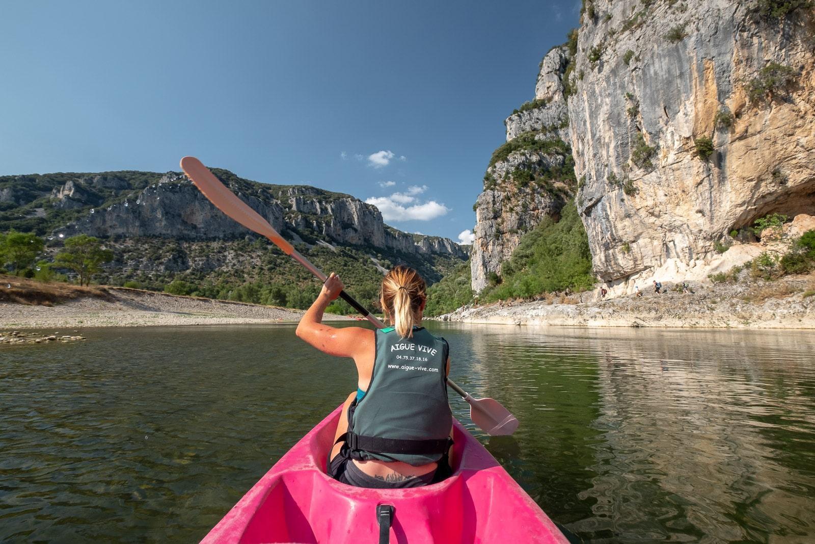 Kano verhuur in de Ardèche - Zwemmen & Zonnebaden - 13km
