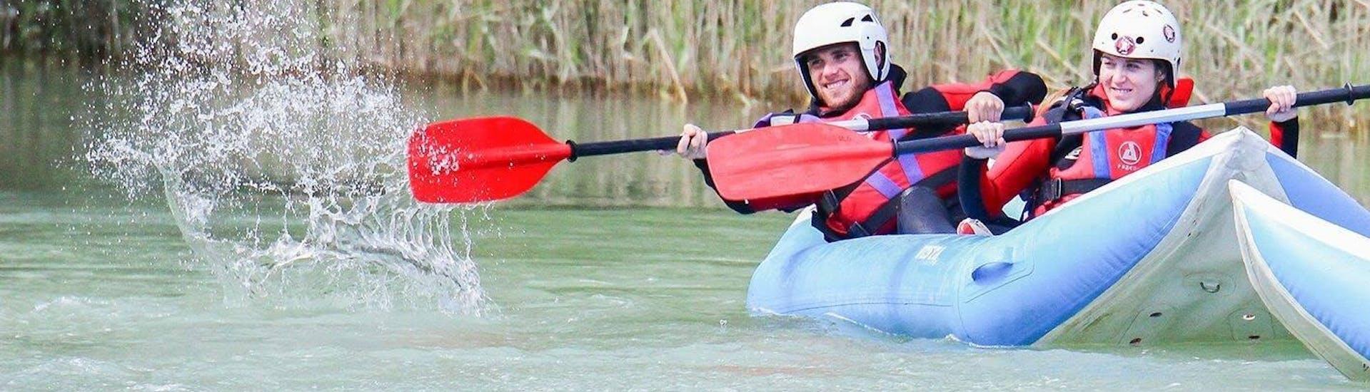 Canoe-Raft on the Río Gállego