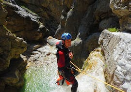 Action Canyoning near Lake Weissensee