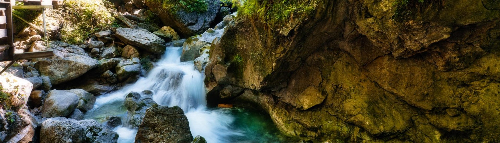 An image of the Seisenbergklamm, a popular destination to go canyoning in Salzburg.