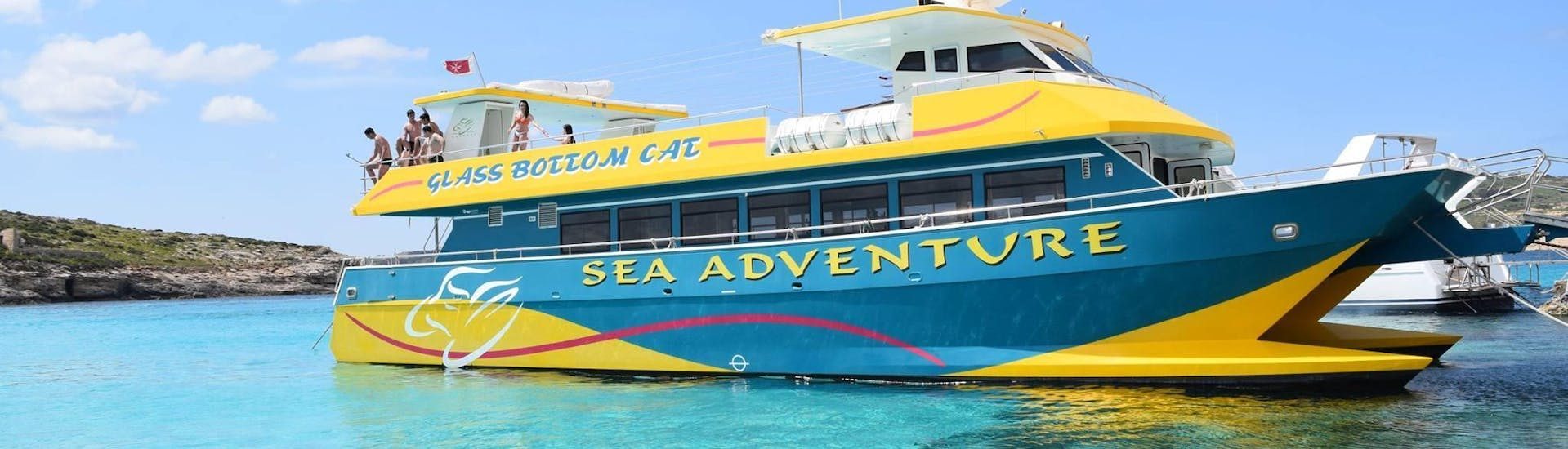 Holidaymakers are enjoying the view during their catamaran tour organised by Sea Adventure Excursions.