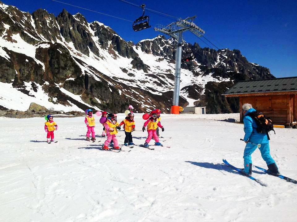 Cours de ski Enfants (6-12 ans) aux Grands Montets