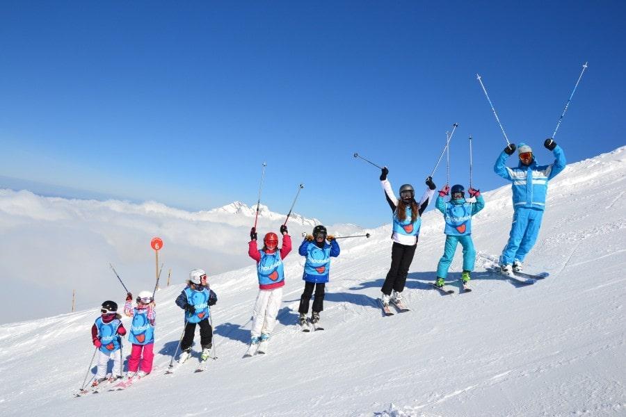 Clases de esquí para niños a partir de 7 años para todos los niveles