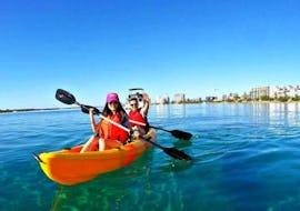 Our guests paddling around Brisbane River during the activity Kayaking in Brisbane in Daytime with Kayak Fun Brisbane