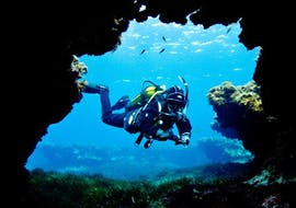 A diver is taking part in a Scuba Diving Course for Beginners provided by Endless Oceans Diving Centre Gozo.