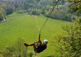 "Zipline ""400m"" over the Orne river - Clécy"