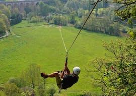 400m Zipline over the Orne River in Clécy