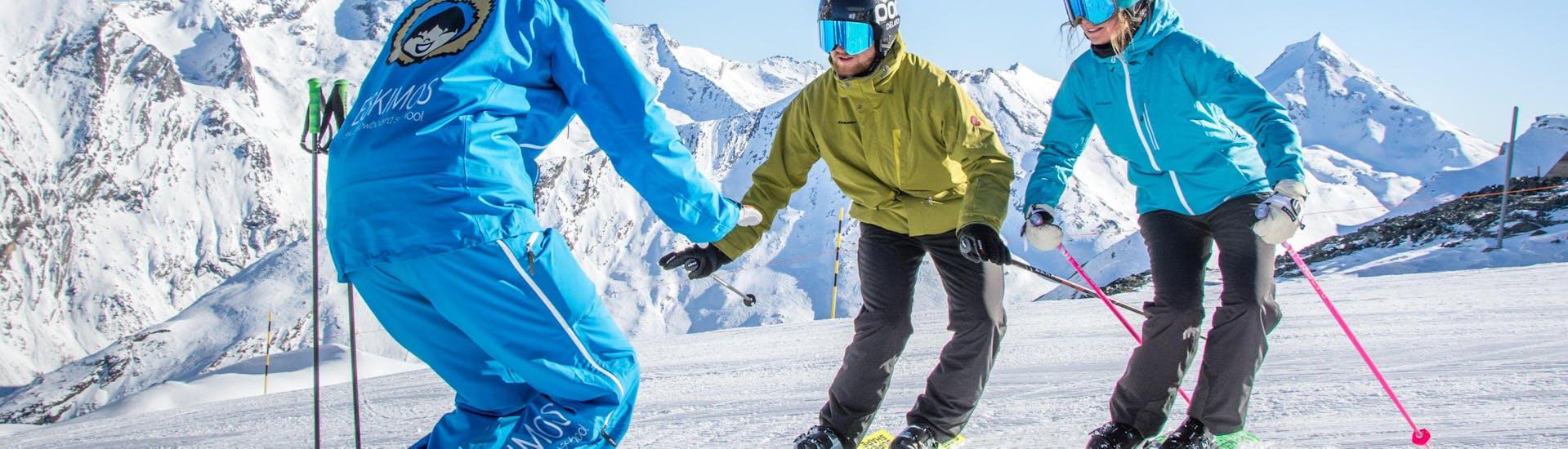 Curso de esquí privado para adultos para todos los niveles