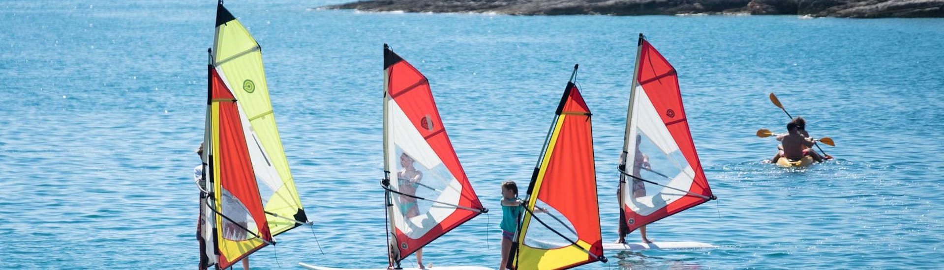 Private Windsurfing Lessons (from 8 y.) at Školjić Beach