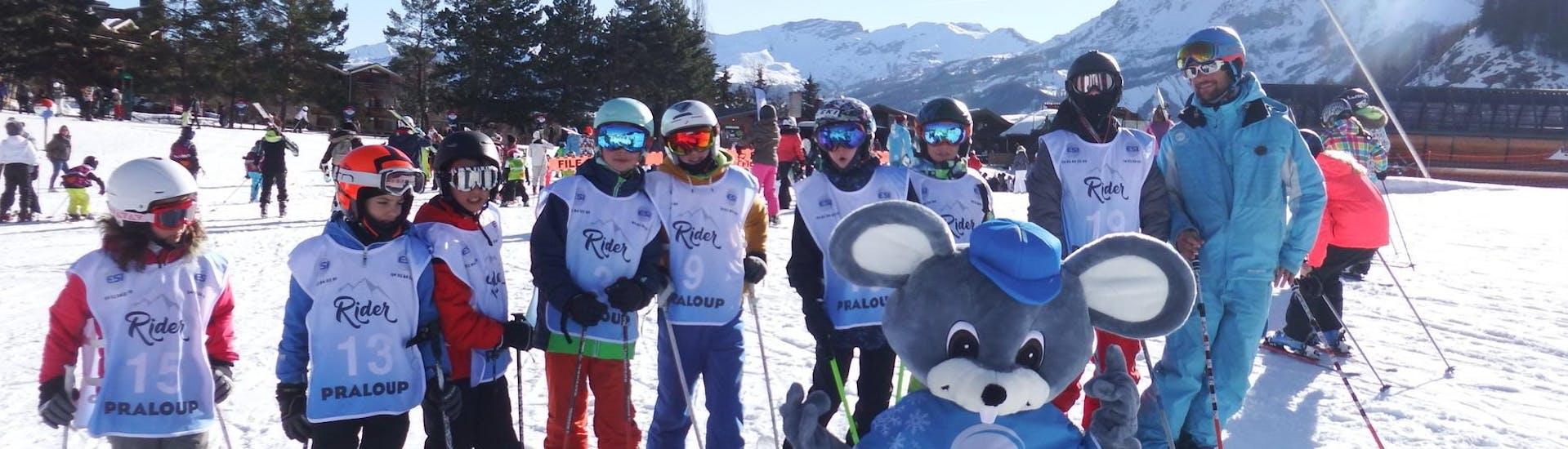 Cours de ski Enfants (5-12 ans) pour Tous niveaux - Matin avec ESI Pra Loup - Hero image