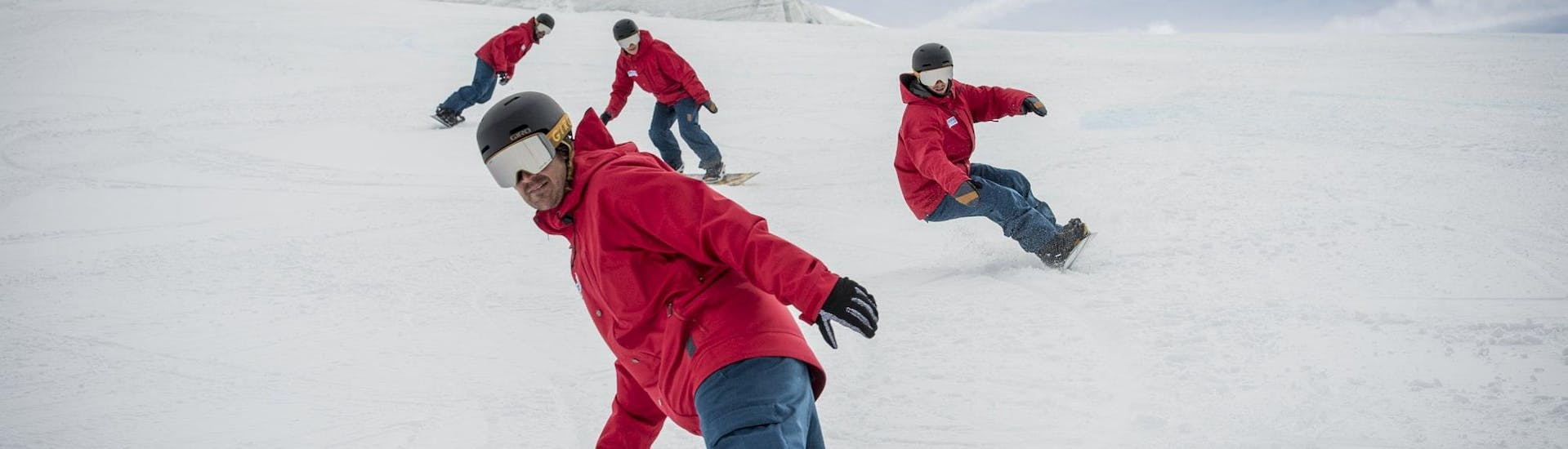 Snowboarding Lessons (6-16 y.) for Adv. Boarders - Half Day