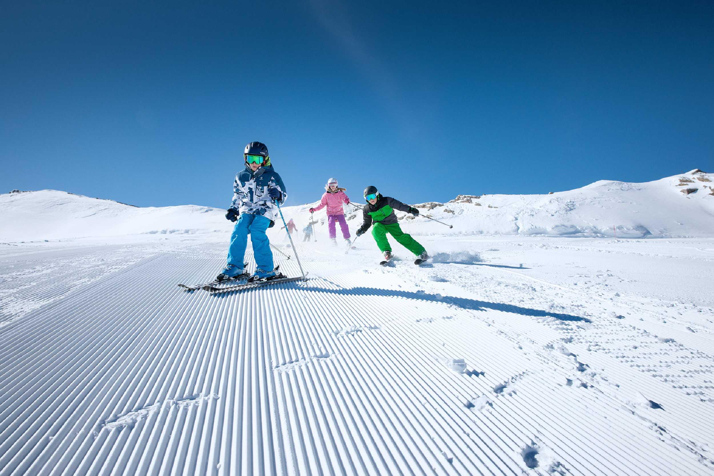 Privélessen skiën voor gezinnen - Alle niveaus