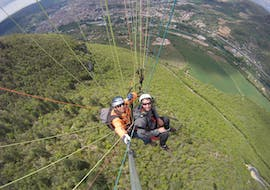 "A person is participating toTandem Paragliding ""Thermic"" - Millau with Air Magic Parapente."