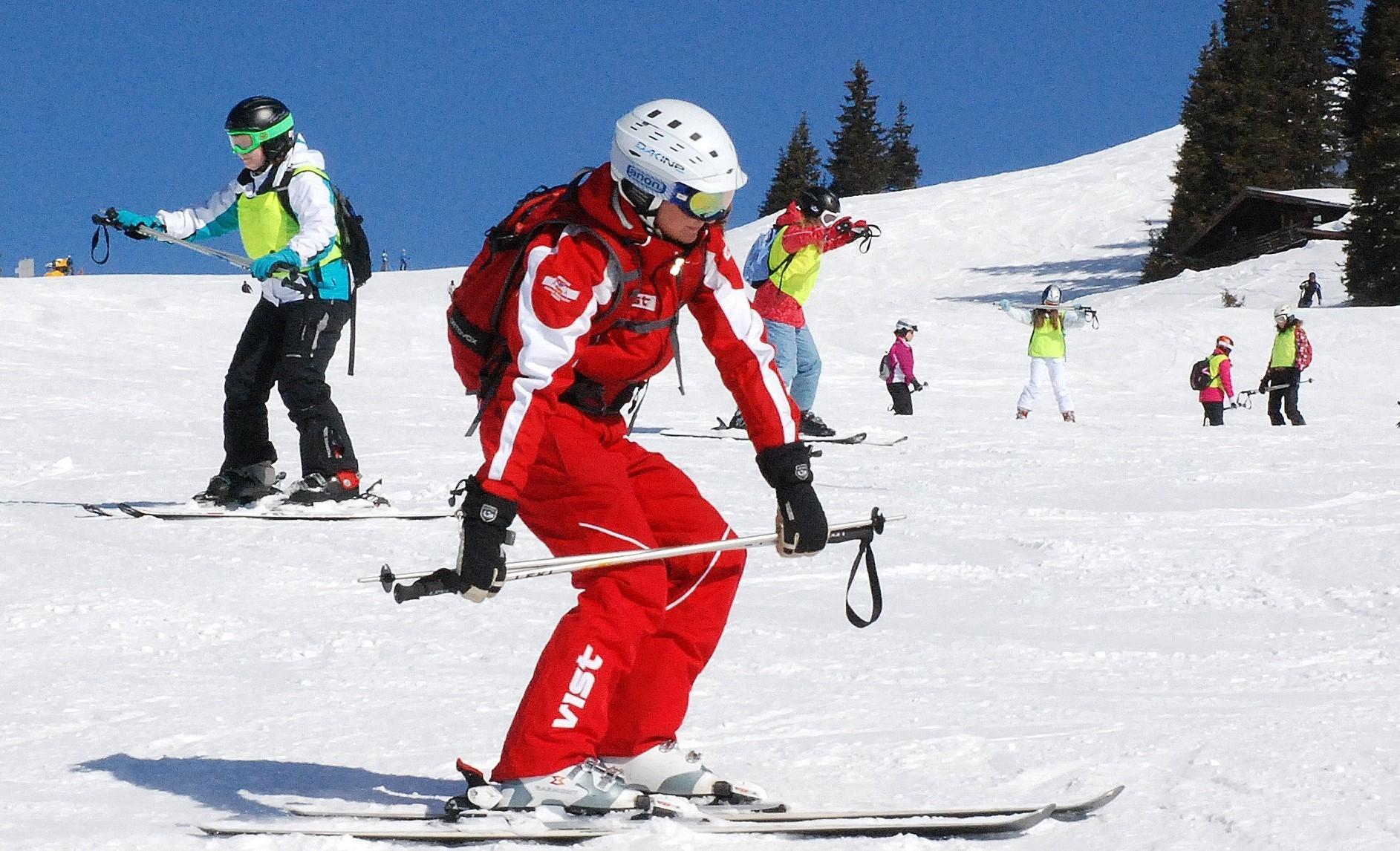 Clases de esquí para adultos para debutantes
