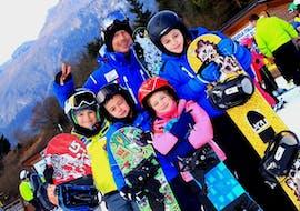 Snowboardlessen vanaf 6 jaar voor alle niveaus met Scuola di Sci Andalo Dolomiti di Brenta